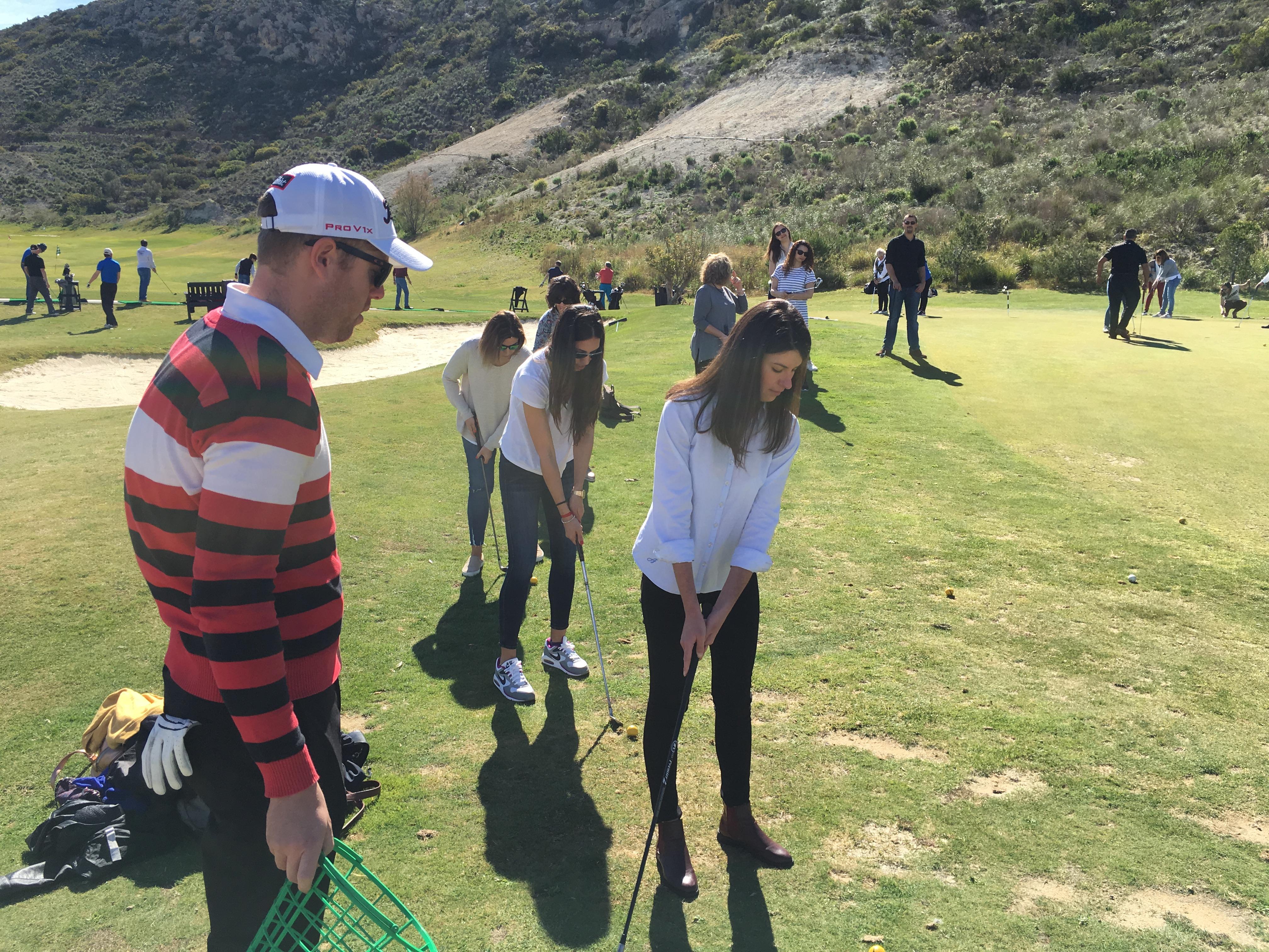 Bautismo de golf alumnos Máster en Dirección de Hoteles Máster en Dirección de Hoteles