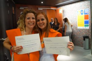 Tania Martínez y shana Vanhoecke Clausura Máster en Dirección de Hoteles