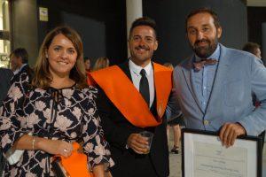 Cintia Culiañez, Miguel Ángel Albalat y Chema Herrero (Profesor) Clausura Máster en Dirección de Hoteles