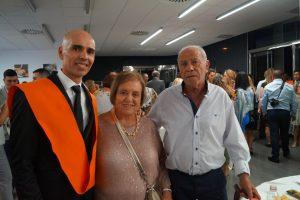 Sergio Rodríguez Valentí y familia Clausura Máster en Dirección de Hoteles