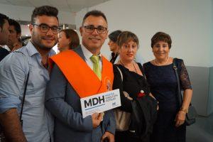 José María Giménez y familia en Clausura del Máster en Dirección de Hoteles