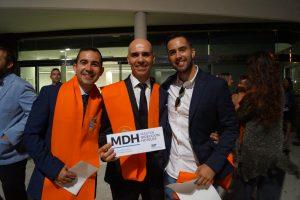 Simón Larrull, Sergio Valentí y Raúl Godoy en la Clausura del Máster en Dirección de Hotels