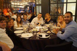 Cena final del Máster en Dirección de Hoteles. Tania Martínez, Ekaterina Bukareva, Esther Llorente y Krizia Deltell