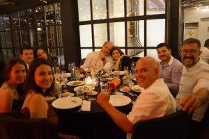 Cena final del Máster en Dirección de Hoteles. Marina Orts, Sofía López, Gema Álvarez, Irving Ribot, José Luis Jiménez, Raúl Abad.