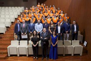 Alumnos, profesores, Javier Jiménez, Inés del Valle y Alejandra Peláez Acto de Clausura Máster en Dirección de Hoteles