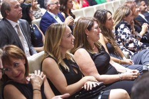 Clausura Máster en Dirección de Hoteles UA. Yolanda Pickett, Paula Zapata, Rosa LLinares