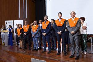 Entrega de bandas. Irving Ribot, José Luis Alavés, José Luis Jiménez, José María Giménez, Carlos Párraga y Krizia Deltell